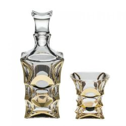 Set whisky 1+6 zl. X-lady gold   1 ks